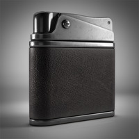 3d vintage pocket lighter model