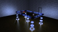 Futuristic Solar Powered Pool Table