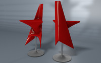 conceptual chair lounge star 3d c4d