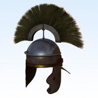 imperial-gallic centurion helmet 3d obj