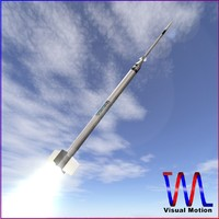 sounding rocket hopi dart 3d model