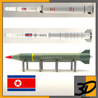 3d rodong-1 missile north korea