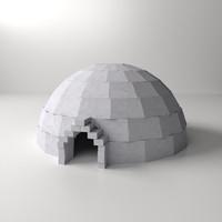 3d igloo model