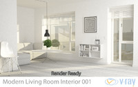 modern living room interior 3d model