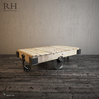 furniture factory cart 3d obj
