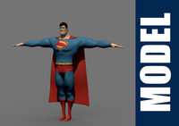 3d superman modeled