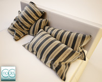3ds max pillow bed