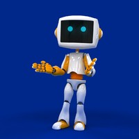 droid robot biped 3d max
