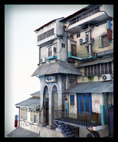 3d model building asian realistic