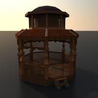 3d gazebo medium ready model
