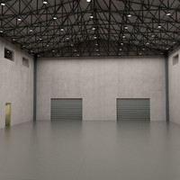 3d warehouse interior