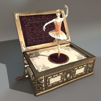 ballerina music box 3d model
