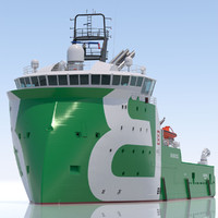 anchor handling tug supply vessel 3ds