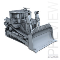 3d model armored cat d9r bulldozer