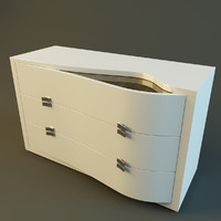 3ds modern dresser rubino treci