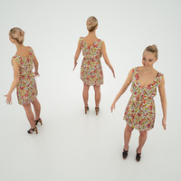 3d character flower dress