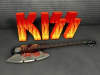 kiss gene simmons axe 3d model