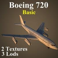 boeing 720 basic 3d model