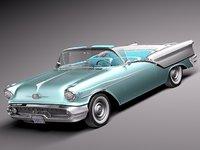 v8 antique luxury convertible 3d model