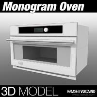 3d monogram oven model