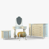 set classic furniture volpi 3d 3ds