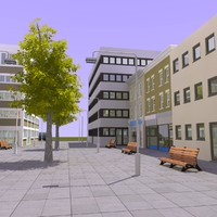 shopping center street 3d model