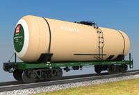 railway cargo 3d model