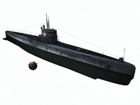 submarines project 613 - 3d model