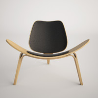 maya hans wegner shell chair