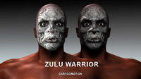 zulu warrior 3d model