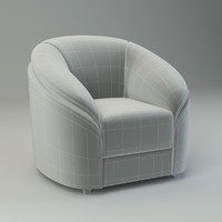 basic armchair donata chair obj