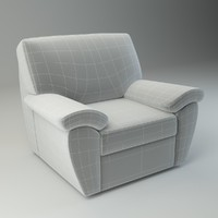 3d basic armchair senator chair model