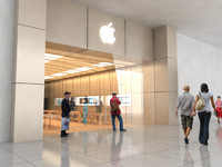 apple store 3d max