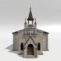 medieval chapel 3d model