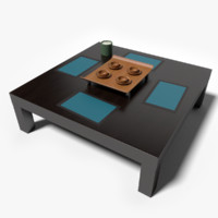3d model square coffee table