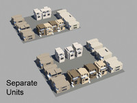 3d max townhouse set