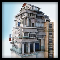 building asian realistic 3d max