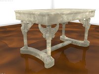 3d model of napoleon desk marble