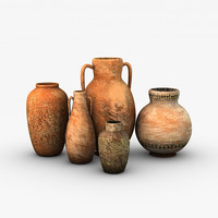 Low poly Egyptian Pottery collection