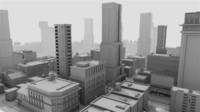3d cityscape street city