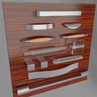 handles casters legs hafele 3d model