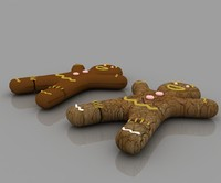 3d food cookies chocalate