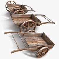Wood Medieval Transport Cart
