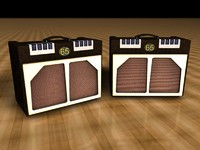 3d guitar amp 65amps model