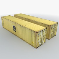 msc shipping container 3d model