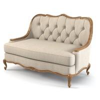 century settee sofa 3d max