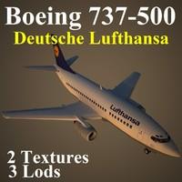 3d boeing 737-500 dlh