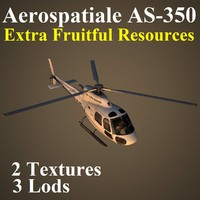 aerospatiale vip helicopter 3d max