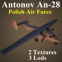 antonov plf aircraft 3d max