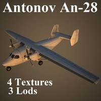 antonov aircraft 3d model